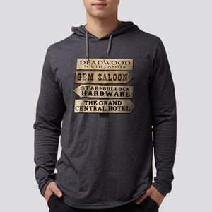 Deadwood Sign Post Mens Hooded Shirt